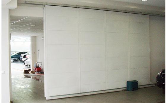 Ворота раздвижные на гараж 155