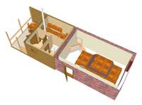 Как построить баню своими руками в гараже 78